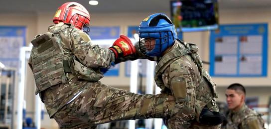Қазақстандық әскери қызметшілер армиялық қоян-қолтық ұрыста шеберліктерін шыңдауда